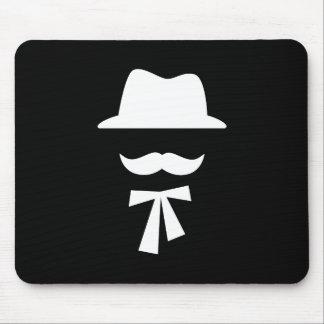 Mustache & Hat Pictogram Mousepad