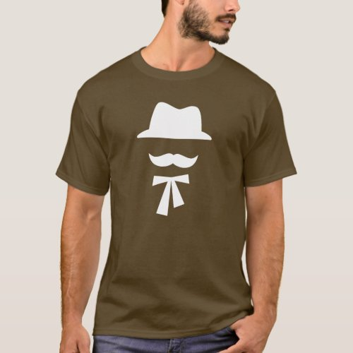 Mustache  Hat Pictogram T_Shirt