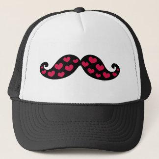 Mustache Hearts Trucker Hat