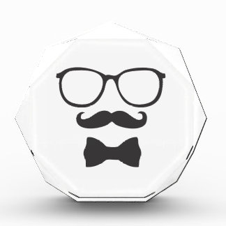 Mustache Hipster Bowtie Glasses Award