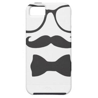 Mustache Hipster Bowtie Glasses iPhone SE/5/5s Case