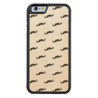 Mustache hipster pattern 2 carved maple iPhone 6 bumper case