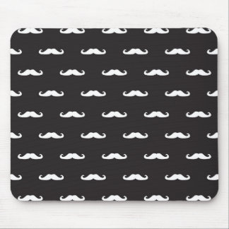 Mustache hipster pattern mouse pad