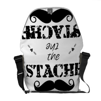 Mustache Hipster Retro Pattern Courier Bag