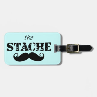 Mustache Hipster Retro Pattern Luggage Tag
