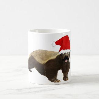 Mustache Honey Badger Santa Mug