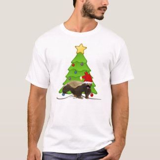 Mustache Honey Badger Santa T-Shirt