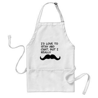 Mustache Humor Adult Apron