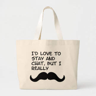 Mustache Humor Canvas Bag