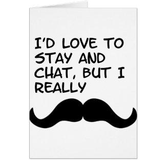 Mustache Humor Card