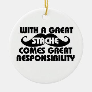Mustache  humor christmas ornament