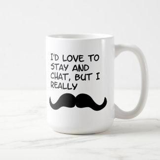 Mustache Humor Classic White Coffee Mug