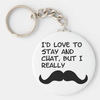 Mustache Humor Key Chains