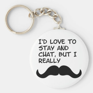 Mustache Humor Key Chains