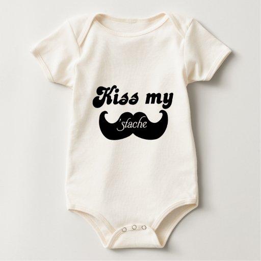 Mustache humor - Kiss my stache Rompers