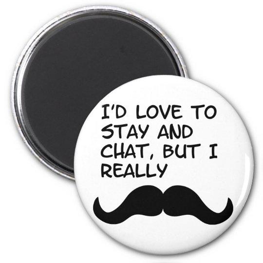 Mustache Humor Magnet