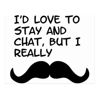 Mustache Humor Postcard