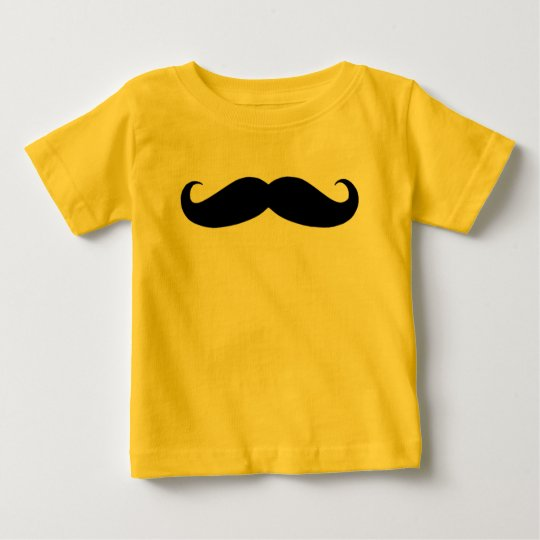 Mustache in Black or White Baby T-Shirt