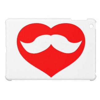 Mustache inside Red Heart iPad Mini Cases