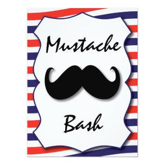 """Mustache Invitation 6.5"""" X 8.75"""" Invitation Card"""