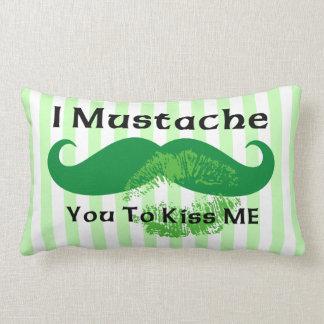 Mustache Irish Kiss Pillows