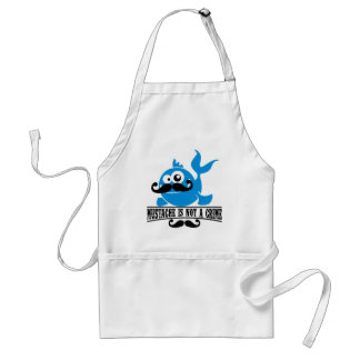 mustache is not a crime adult apron