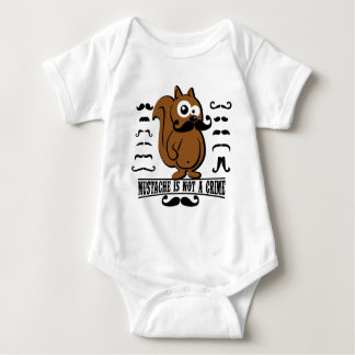 mustache is not a crime baby bodysuit