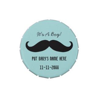 Mustache It's A Boy Candy Tins