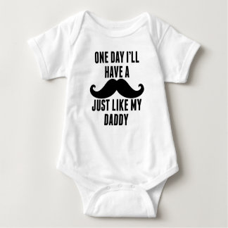 Mustache Just Like My Daddy Baby Bodysuit