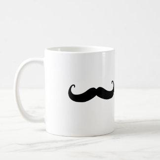 Mustache kawaii mug