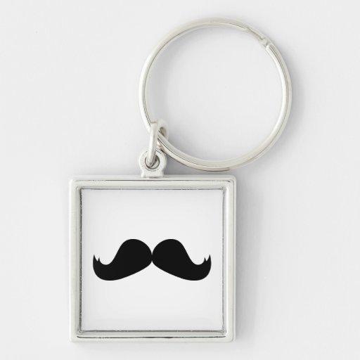 Mustache Keychain
