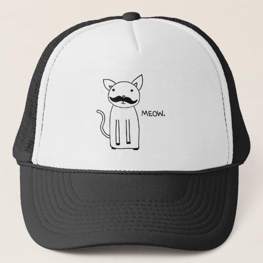 Mustache Kitty Trucker Hat