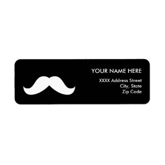 Mustache Return Address Label