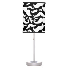 Mustache desk Lamp Black and White