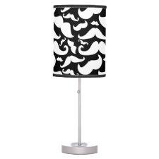 Mustache desk Lamp Black and White