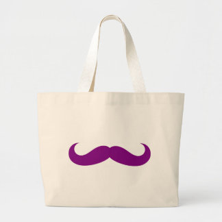 mustache large tote bag