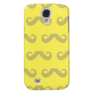 Mustache Light Yellows Samsung Galaxy S4 Cover