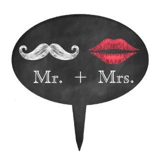 Mustache & Lips Cake Topper
