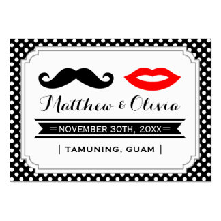 Mustache & Lips Place Cards Large Business Cards (Pack Of 100)