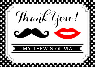 Mustache Thank You Cards Zazzle