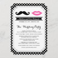 Mustache & Lips Wedding Programs