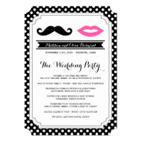 Mustache & Lips Wedding Programs