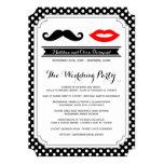 Mustache & Lips Wedding Programs Card