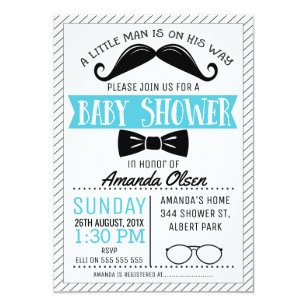 Mustache baby shower invitations announcements zazzle mustache little gentleman baby shower invitation filmwisefo
