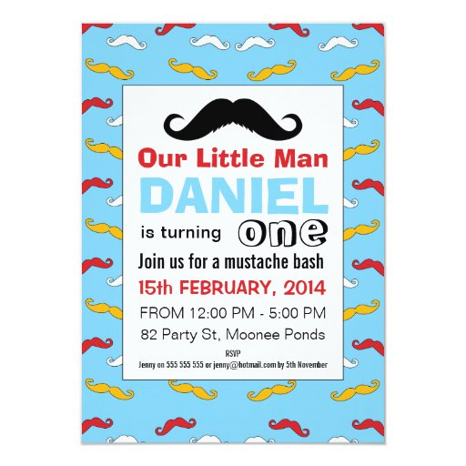 Little Man Birthday Party Invitations as perfect invitations ideas