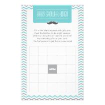 Mustache / Little Man Baby Shower Bingo Game Card