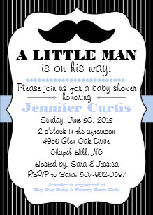 Mustache baby shower invitations announcements zazzle mustache little man baby shower invitation filmwisefo Image collections