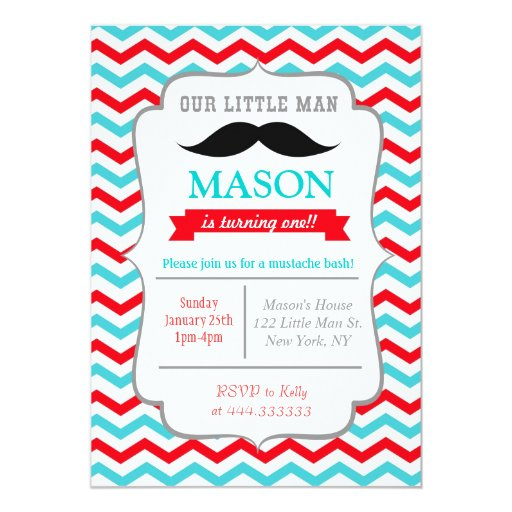 Mustache Party Invitations and get inspiration to create nice invitation ideas