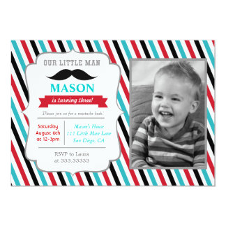 mustache little man birthday party invitations - Mustache Party Invitations