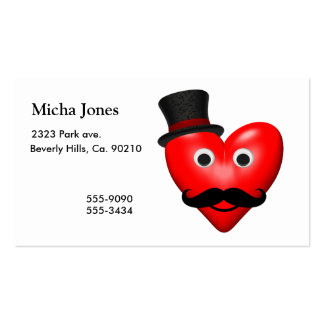 Mustache Love With Tophat Business Cards
